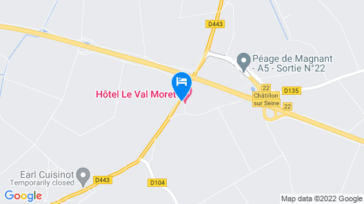 Hôtel Restaurant & Spa LE VAL MORET Map
