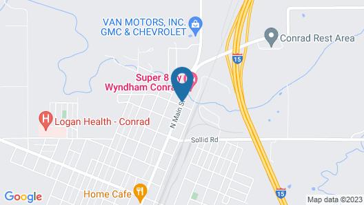 Super 8 by Wyndham Conrad Map