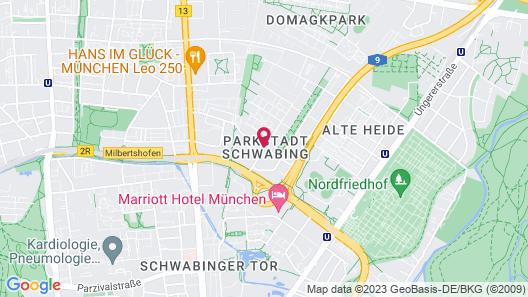 Motel One München-Parkstadt Schwabing Map
