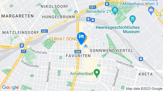 MEININGER Hotel Vienna Central Station Map