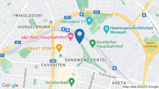 Hotel Schani Wien Map
