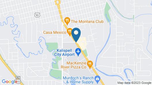FairBridge Inn, Suites & Outlaw Conference Center Kalispell Map