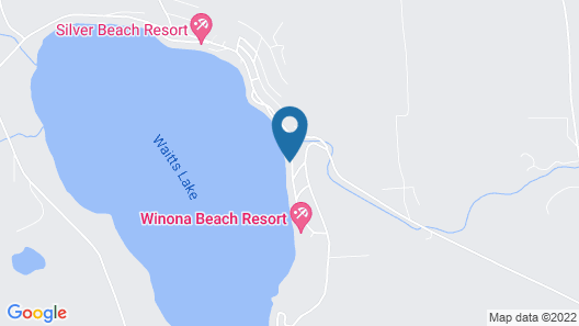 3 Bedroom Home On Waitts Lake With 150 Feet Of Lake Front Map