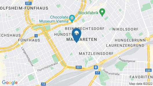 Art Hotel Vienna Map