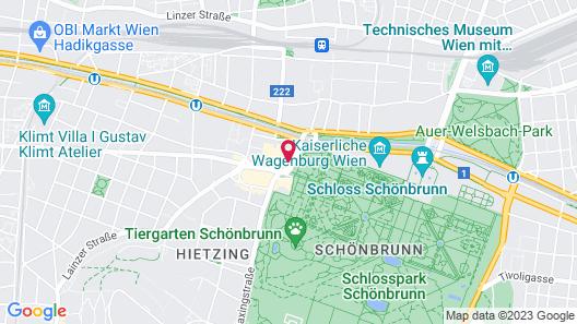 Austria Trend Hotel Maximilian Map