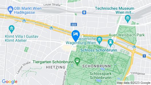 Austria Trend Parkhotel Schönbrunn Map