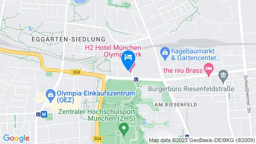 H2 Hotel München Olympiapark Map