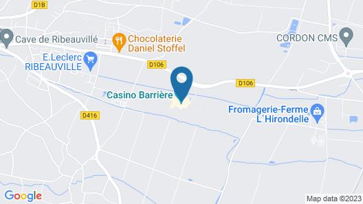 Hôtel Barrière Ribeauvillé Map