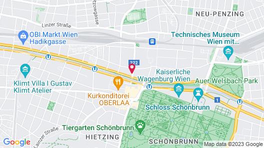 EST Residence Schoenbrunn Vienna - contactless check-in Map