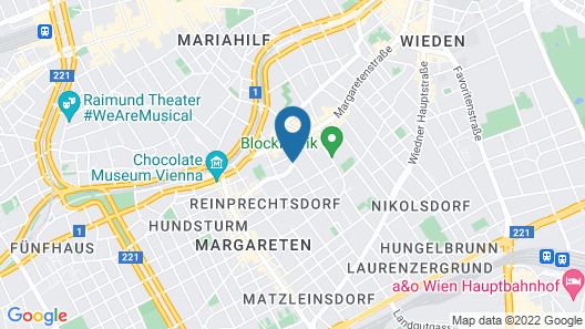 pentahotel Vienna Map