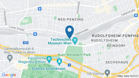 Radisson Blu Park Royal Palace Vienna Map