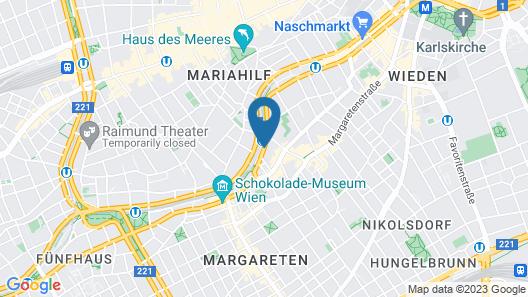 Austria Trend Hotel Ananas Map
