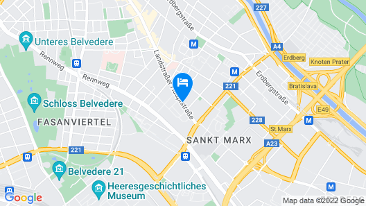 Best Western Plus Amedia Wien Map