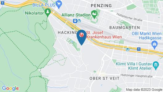 Hostel Vienna Hütteldorf Map