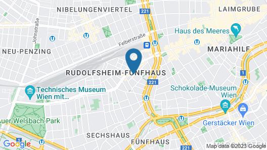 Vienna Hostel Ruthensteiner Map