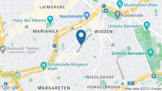 Holiday Inn Vienna City Map