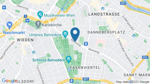 Lindner Hotel am Belvedere Map
