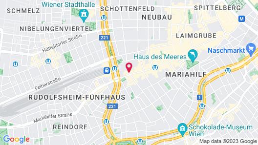 IntercityHotel Wien Map