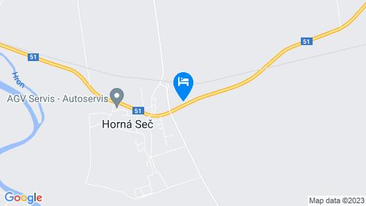 Apartmány Horná Seč Map