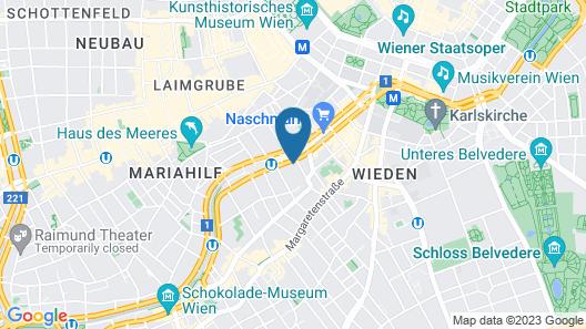 wombat's CITY HOSTELS VIENNA - Naschmarkt Map
