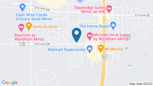 Hawthorn Suites by Wyndham Minot Map
