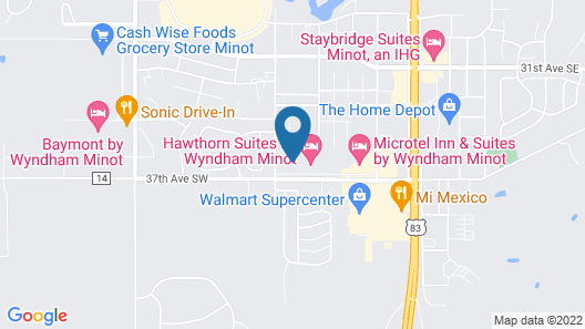 Candlewood Suites Minot, an IHG Hotel Map
