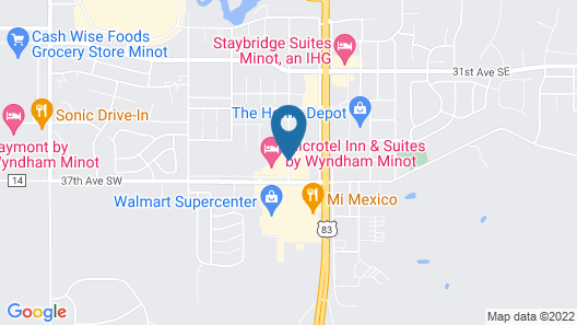 Microtel Inn And Suites Minot Map