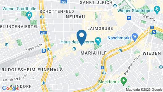 NH Collection Wien Zentrum Map