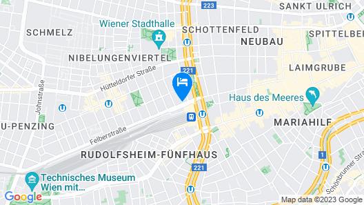 Hotel Westbahn Map