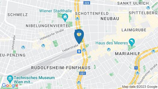 Hotel Mercure Wien Westbahnhof Map
