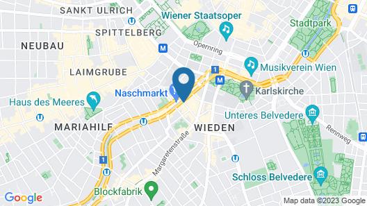 Hotel Drei Kronen Vienna City Map