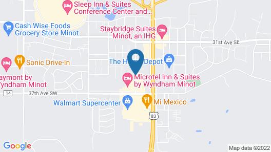 My Place Hotel-Minot, ND Map