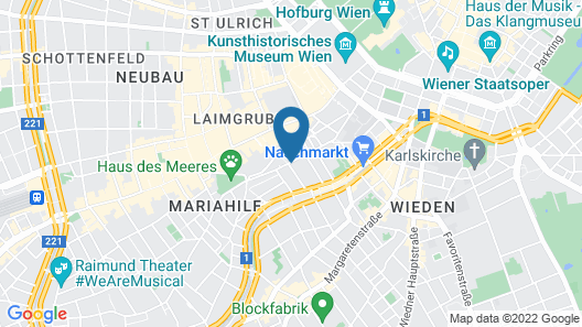 Hotel Kolpinghaus Wien Zentral Map