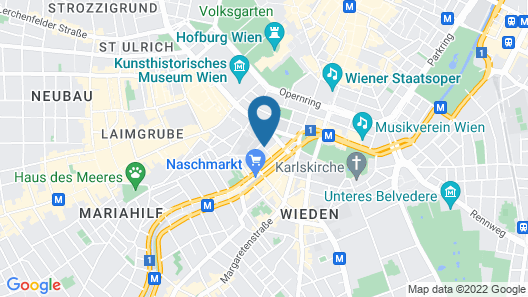 Hotel Beethoven Wien Map