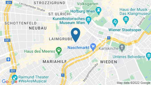Time Out City Hotel Vienna Map