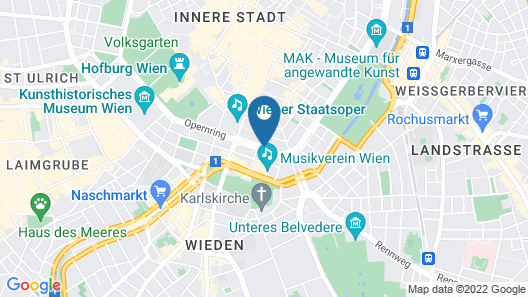 Grand Hotel Wien Map