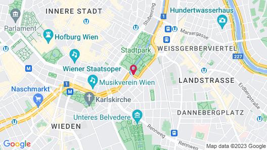 InterContinental Vienna Map