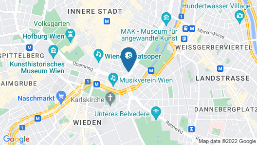 Grand Ferdinand Vienna - Your Hotel In The City Center Map