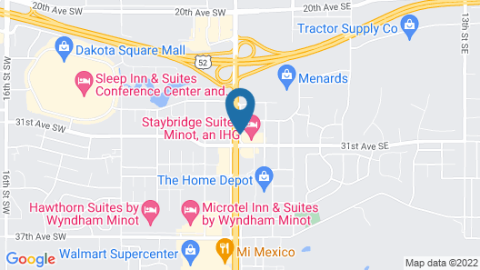 Staybridge Suites Minot, an IHG Hotel Map