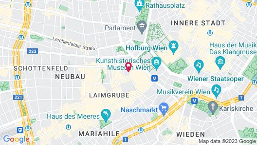 Hotel Viennart am Museumsquartier Map