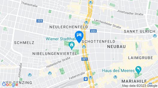 arte Hotel Wien Stadthalle Map