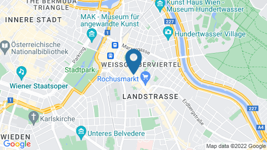 Grand Hotel Mercure Biedermeier Wien Map