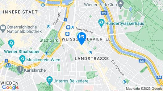 Grand Hotel Mercure Biedermeier Wien Map