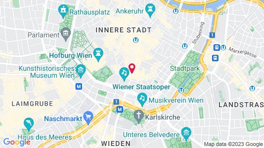 Austria Trend Hotel Astoria Map