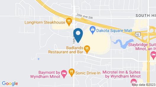 Kelly Inn Minot Map