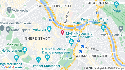 Ruby Lissi Hotel Vienna Map