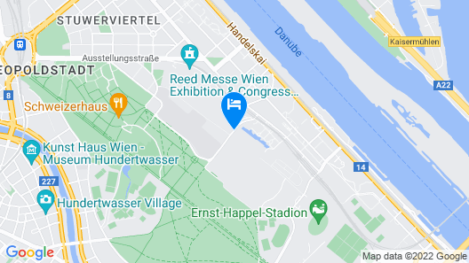 Courtyard Vienna Prater/Messe Map