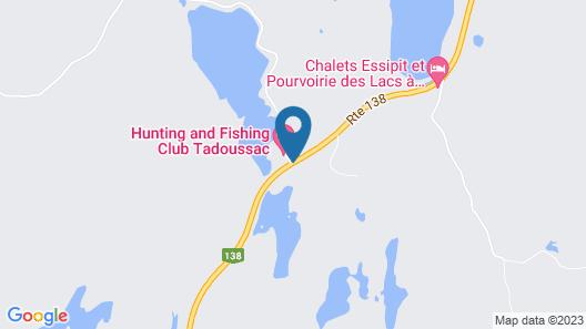 Club De Chasse & Pêche Tadoussac Map
