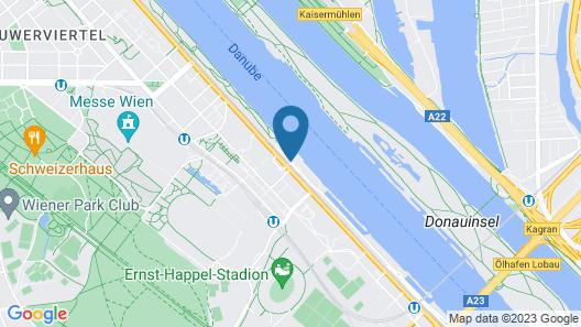 Hilton Vienna Danube Waterfront Map