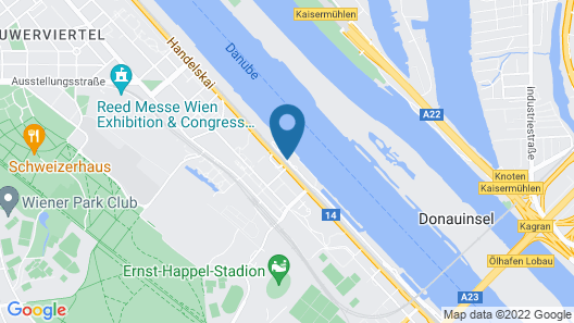 Hilton Vienna Danube Waterfront Map